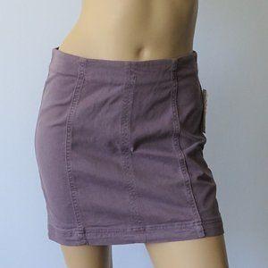 Free People Denim Modern Femme Stretch Skirt NWT